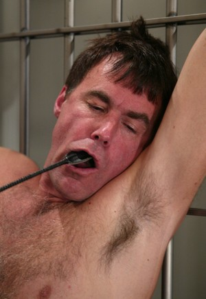 Female correctional office Cole Conners delivers some corporal punishment