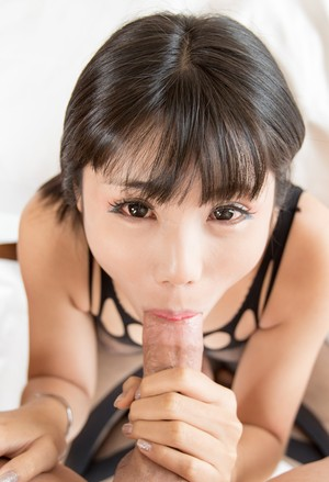 Japanese shemale Dream has sexual relations with a man in a bodystocking