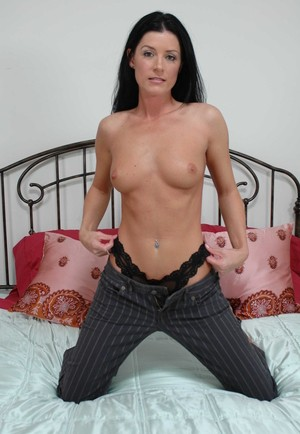 White female India Summer plants her moist pussy on top of her man's cock