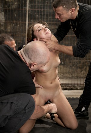 Petite girl Remy LaCroix does a hardcore gangbang in her porn premiere