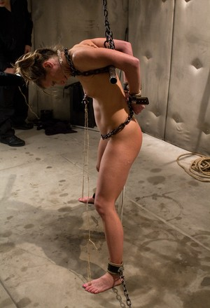 Naked female Ariel X endures all the torture a female slave can endure