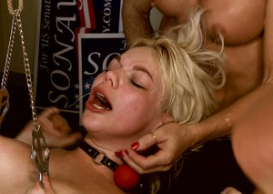 Simone Sonay punishes her step daughter Alice Frost with gangbang and BDSM