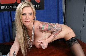 Slutty Brooke Brand predicts the weather while getting naked in the studio