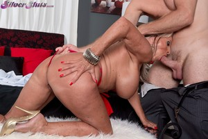 Milf with fake tits Sally D'Angelo wants his raging boner inside of her