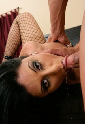 Dark haired Latina chick Luscious Lopez goes ass to mouth after a hard fuck