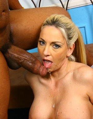 Blonde chick with big tits Cala Craves gets a big black cock inside of her