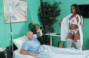 Black nurse Codi Bryant goes pussy to mouth after seducing a patint