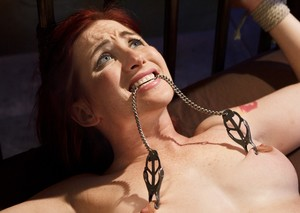 Redheaded pain slut Sophia Locke takes it hard and wants more rough sex