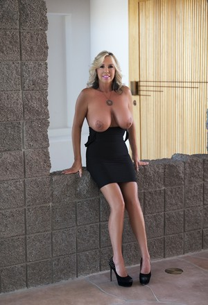 Woman with massive hooters never turns down an opportunity to blow cock