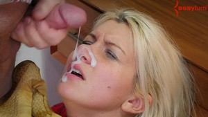 Blonde farm girl Layla Price is forced into anal games with a kinky couple