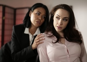 Asian boss lady Dana Vespoli seduces her secretary Chanel Preston