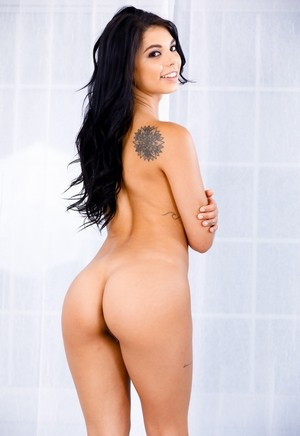 Gorgeous Gina Valentina shows off her tattoos and her juicy good bits