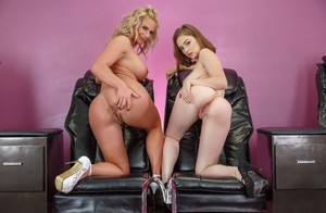 Curvy MILF Phoenix Marie revealing her assets together with sexy Mary Moody
