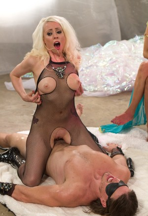 Lorelei Lee rides cock then Maitresse Madeline strokes it with hands
