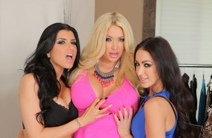 Three top pornstars Breanne Benson, Summer Brielle, Romi Rain in hot gallery