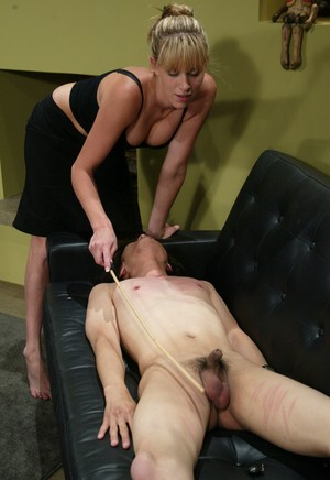 Audrey Leigh dominates over skinny guy Scott Lea spanking and facesitting him