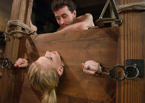 Kinky Allie James gets tied up with rope for some hardcore BDSM action