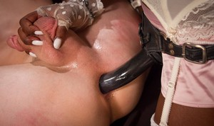 Ana Foxx gets fucked and dominated by her lesbian lover with a strapon