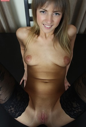 Olivia bloom in stockings gets to play with herself in front of the camera