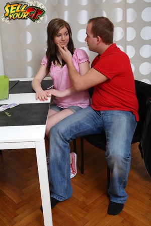 Amateur teen Charlotte gets fucked while her boyfriend watches everything