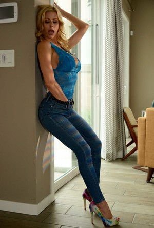 Hot blonde MILF Alexis Fawx cheats on her husband with a younger boy