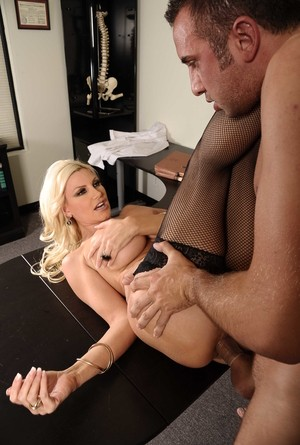 Big Boobed Blonde Doctor Brittany Andrews Inspects Patient Hclips 1