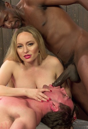 Cuckold guy by Aiden Starr must watch her getting fucked by a black dude