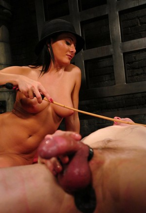 Romanian cutie Sandra Romain wears a hat while dominating her lover