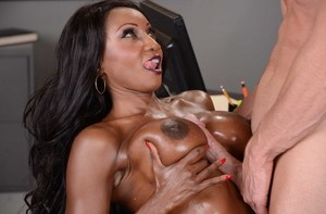 Black business executive Diamond Jackson gets fucked by her masseur