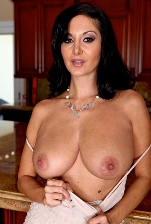 Big saggy boobs of raven-haired pornstar Ava Addams are just brilliant