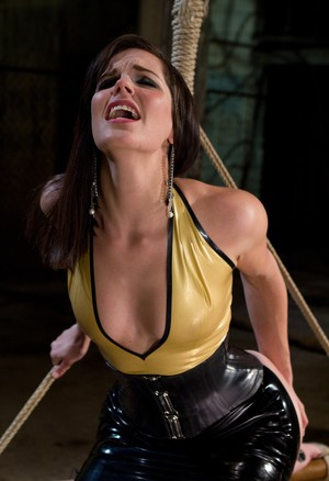 Lesbian BDSM session with electric toys with AnnaBelle Lee and Bobbi Starr