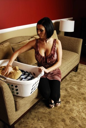 Big boobed lady Dylan Ryder seduces her daughters boyfriend in front of her