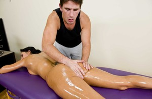 Hot Ava Addams gets her body massaged and snatch dicked by her horny masseur