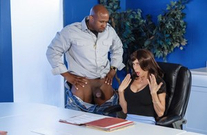 Pornstar Alexis Fawx changes her looks but not her thirst for big black cock