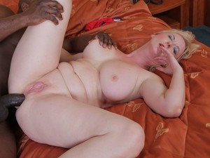 Busty older lady Monika Wipper finally takes a BBC up her long suffering anus