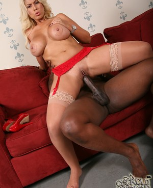 Big boobed blonde Bridgette B cheats on her cuckold with a big black dick