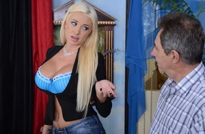 Perfect babe Summer Brielle cheats on her old hubby with a young big dick guy