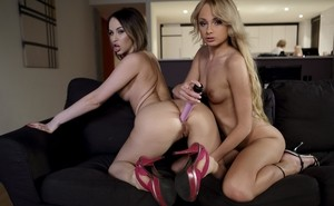 Best friends Aleska Diamond & Ivana Sugar pleasures each other with sex toys
