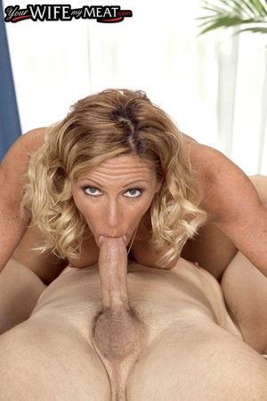 Middle-aged wife seduces her husbands best friend the first chance she gets