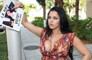 Buxom brunettes Diamond Kitty and Ada Sanchez fornicate with handsome guy