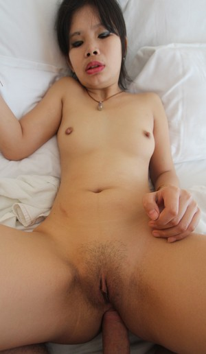 Thai girl makes her porn debut by giving a rimjob and doing bareback anal sex