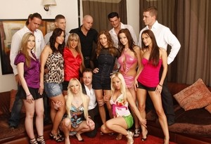 Fantastic bachelor party with sexy babes turned to an intense orgy