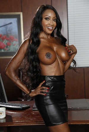 Beautiful chick Jasmine Webb takes off her clothes and shows her big tits