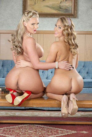 Blonde lady Phoenix Mari and stepdaughter Carter Cruise remove their lingerie