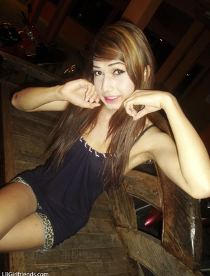 Pretty Thai ladyboy with skinny body shamelessly flashes nudes in toilet