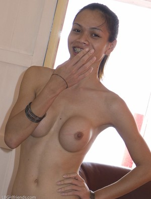 Lovely ladyboy with a pair of sexy tits Wicky getting ready for the beach
