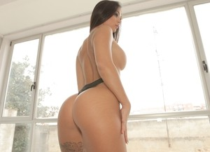 Busty Susy Gala displays her big ass and her curves while in red high heels