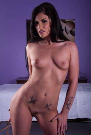 Beauty in red Andy San Dimas will slowly get naked and kinky for you.