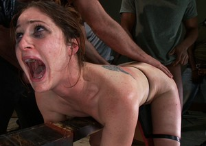 Submissive Cici Rhodes gets gangbanged by Bobby Bends and his best mates.