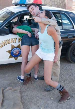 Police officer gets to have some fun with Casey Calvert and Lyla Storm